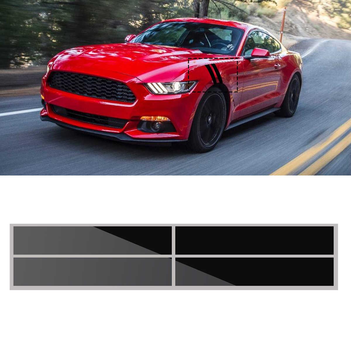 56x10 cm đối với Fender Băm Sọc Đề Can Graphise Vinyl Nhãn Dán Trang Trí Màu Đen cho Ford/Mustang 2015 2016