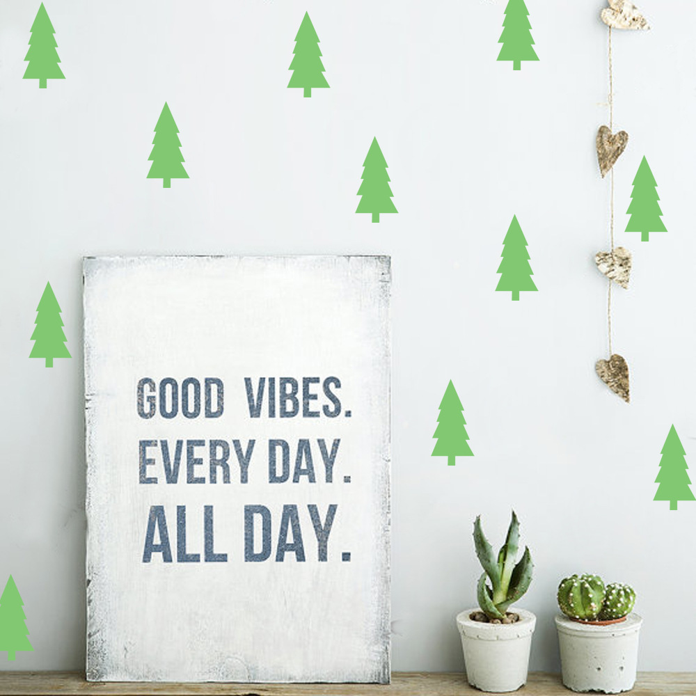online shop diy pine tree wall stickers home decor living room