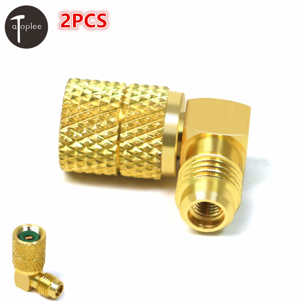 2PCS Car 1/4SAE To 5/16SAE Refrigeration Adapter Connector Adaptor For R410a Gauges Hose Air Conditioning Connector high quality quick coupler with 1 4 sae flare connector for refrigeration equipment
