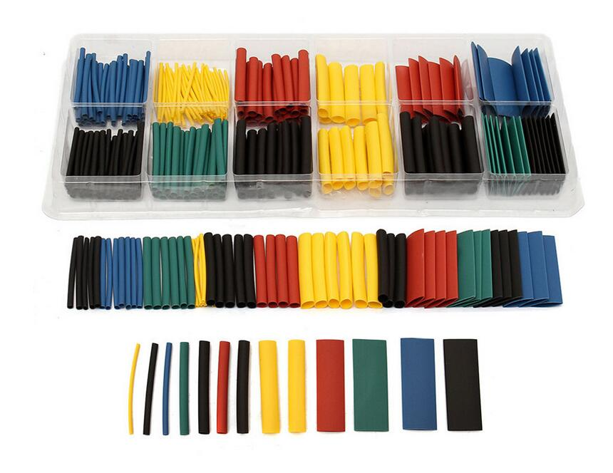 280pcs 8 Size Polyolefin Heat-shrink Tubing Kit High Temperature Electrical Insulating Shrink Tube Assortment sleeve cable ZK56