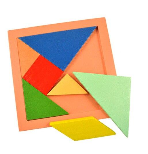 Дети умственное развитие Tangram 11 * 11 см дерево картинка-загадка (пазл) образовательный игрушки для детей