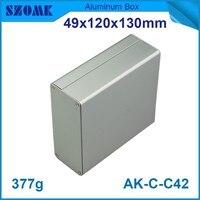 1 Piece Free Shipping Aluminium Enclosure Case Aluminium Extruded Enclosure In Silver Color Smooth Surface Silver