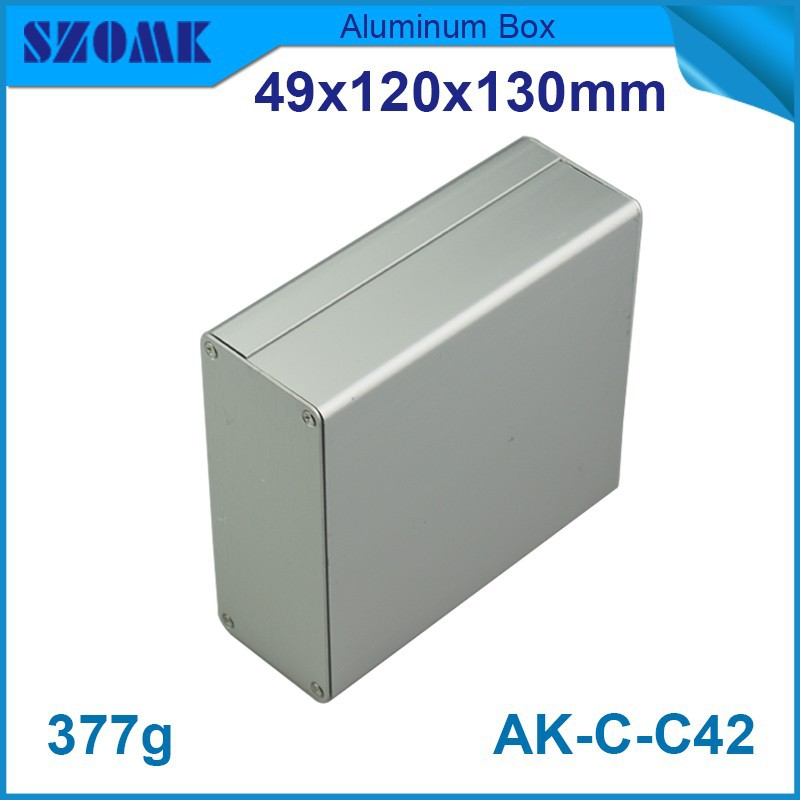 1 piece free shipping aluminium enclosure case aluminium extruded enclosure in silver color smooth surface silver color box free shipping 1piece lot top quality 100% aluminium material waterproof ip67 standard aluminium electric box 188 120 78mm
