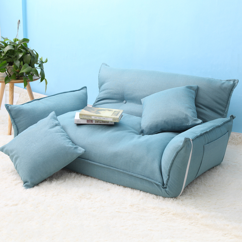 Foldable Floor Mini Sofa Bed Adjustable Double Sofa - Living Room Sofa Bed