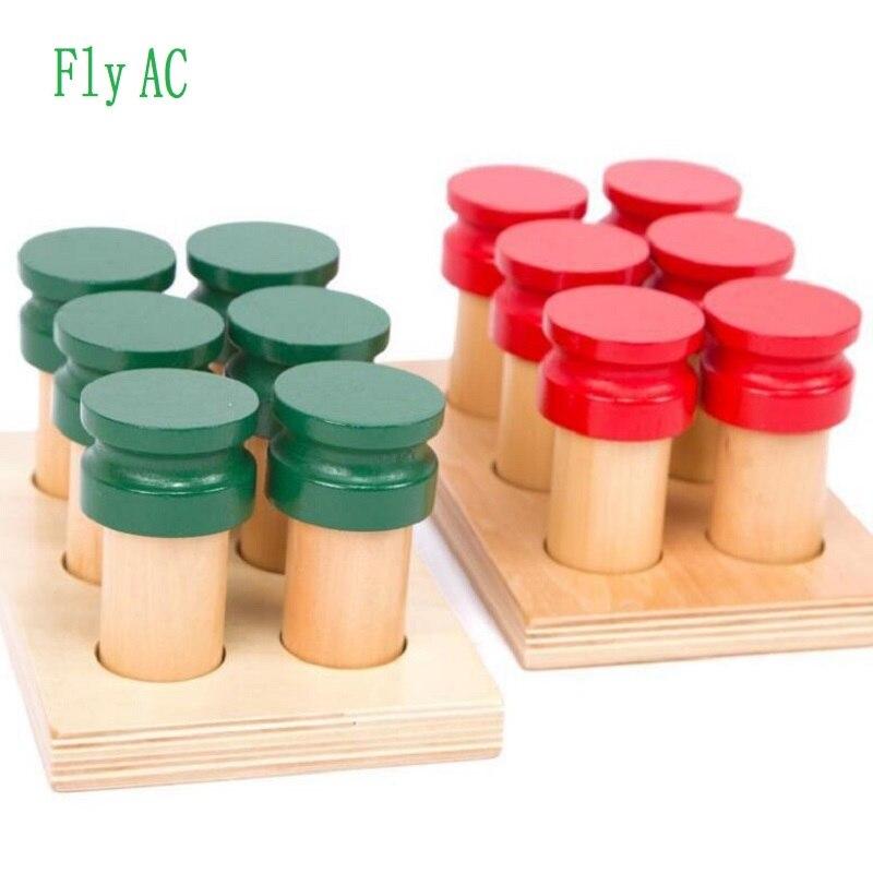 Montessori jouets éducatifs en bois pour enfants éducation sensorielle de plus de 3 ans cylindre olfactif bébé jouets jouets éducatifs