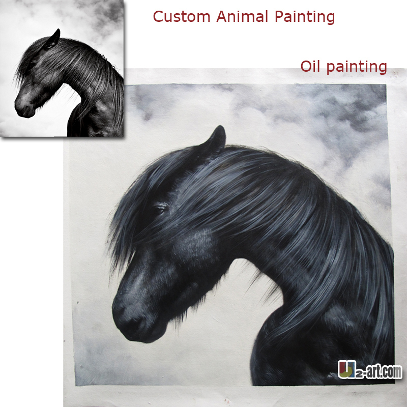reproduction custom animal oil painting beautiful horse pictures oil painting modern arts gift for business partner
