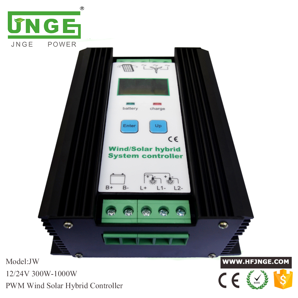 1000W Wind Solar Hybrid Controller 600W wind turbine 400W Solar Panel Charge Controller 12V/24V Auto with Big LCD Display wind and solar hybrid controller 600w with lcd display charge controller for 600w wind turbine and 300w solar panel 12v 24v