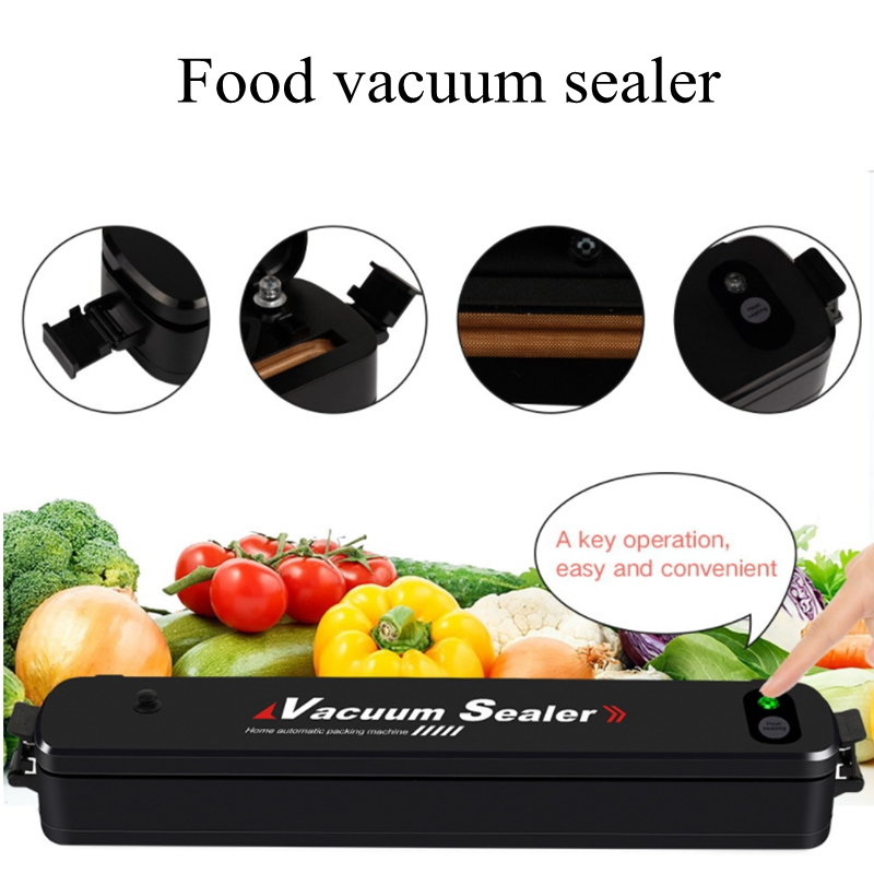 Household Food Vacuum Sealer Packaging Machine Film Sealer Portable Vacuum Packer with Bags household vacuum food sealer packaging machine 220v film sealer vacuum packer with 10 bags
