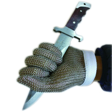 Stainless Steel Wire Safety Gloves 1 Pcs Cut Resistant Metal Mesh Butcher Anti-cutting Proof Protect Breathable Work Gloves .