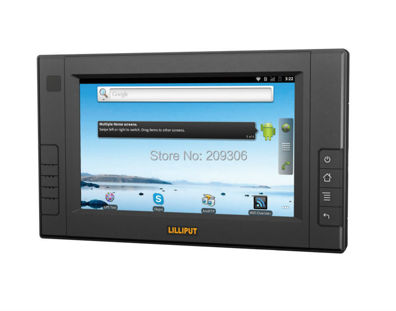 """LILLIPUT PC-7106 7"""" LED capacitive touch screen embedded PC OS Win CE Linux Android system comply IP64 mobile data terminal PC"""