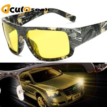 7cf7274572 2019 caliente gafas de visión nocturna hombre Anti-glare HD polarizado gafas  de sol de las mujeres de los hombres gafas de conducir amarillo conductor  gafas ...