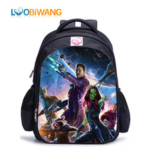 купить LUOBIWANG  Guardians of The Galaxy School Bags for Teenager Boys and Grils Lovely Groot Backpack Kids Bags Mochilas Infantis по цене 2032.74 рублей