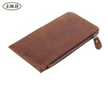 8034R J.M.D Exciting Design Crazy Horse Leather Purse Plenty Card Holder Wallet