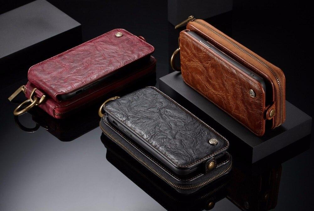 Étui en cuir de luxe Vintage rétro portefeuille magnétique pour Apple iPhone X 5.8 'étuis multifonctions de poche pour cartes