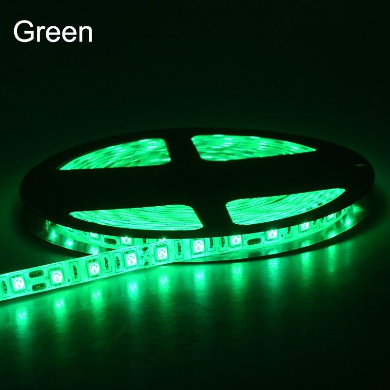 5 metros 5050 RGB Luz de tira LED DC 12V 60 LEDs / m Cinta de diodo - Iluminación LED - foto 4