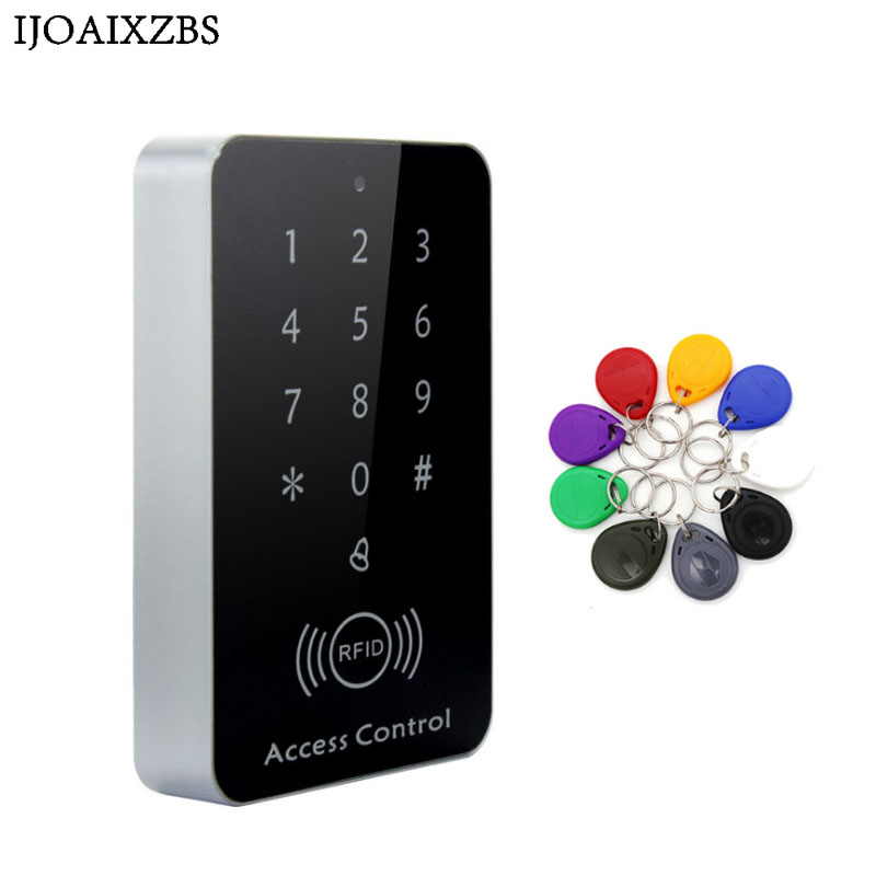 ID Door Access Control System 125Khz Safety RFID Card Password Access Controller Keypad Machine Controller Keypad +10 Key Fobs