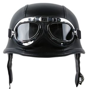 Motorcycle Helmet German Leath