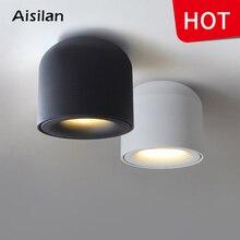 Aisilan поверхностного монтажа светодиодный светильник круглая лампа для гостиной, спальни, кухни, ванной комнаты, коридора, AC 90 v-260 v