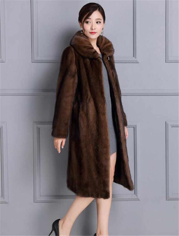 9d1e9a967ad6 Faux Mink Fur Coat Women Winter New Fake Fur Coats For Women Long  Artificial Fur Imitation Fur Jackets Plus Size 4Xl A5009