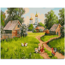 WONZOM Grassland Chicken-DIY Painting By Numbers,Hand painted Paint By Number,Oil Canvas Painting,Wall Art Picture 40X50CM(China)