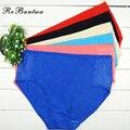 Rebantwa bragas atractivas 6 unids/lote underwear mujeres bragas de algodón calzoncillos de cintura alta de las madres más tamaño ropa interior de encaje íntimos 4xl