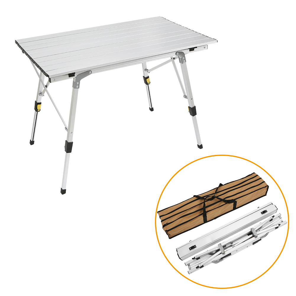 90x53x71CM Portable Outdoor Folding Table Ultra-light Aluminium Alloy Foldable Desk Durable Picnic Tables For Barbecue Camping E aluminum alloy portable outdoor tables garden folding desk with waterproof oxford cloth