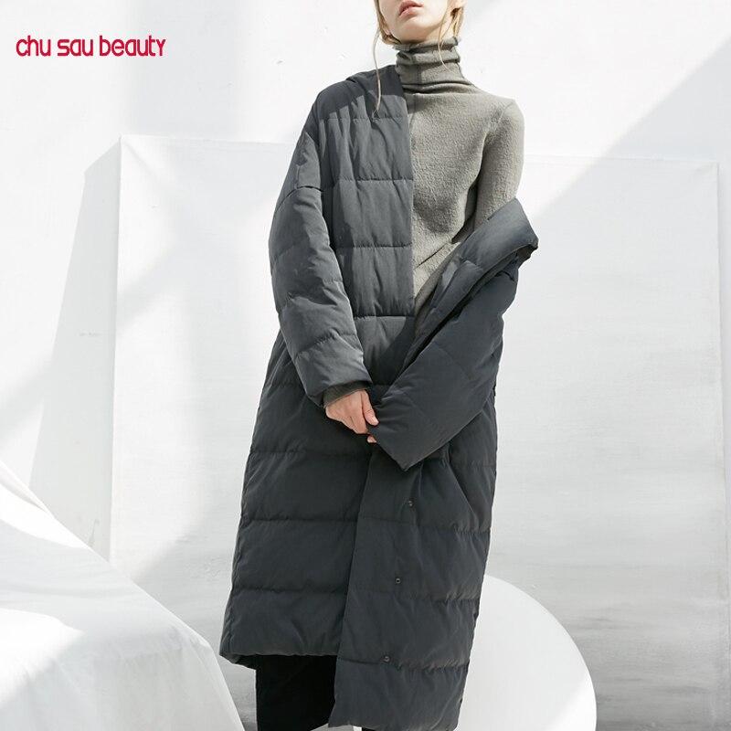 2019 outwear overcoats warm women's   parkas   thicken winter hooded jackets women's coats casual long   parka   female plus size