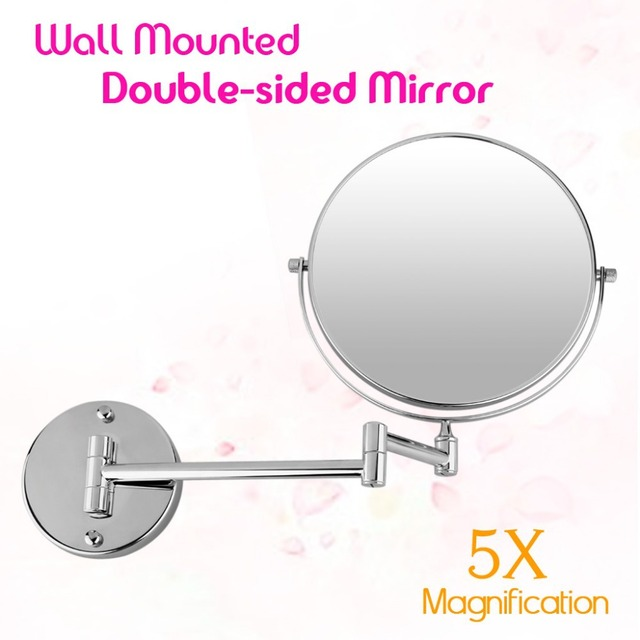 new bathroom mirror 8 inch wall mounted extending folding double side 5x mirror for makeup