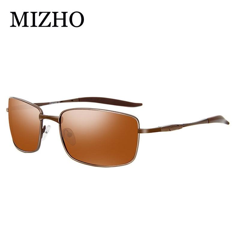 MIZHO Brand Designer Driving Polarized Sunglasses Men Rectangle Metal Sun Glasses Eyewear Accessories oculos de sol masculino in Men 39 s Sunglasses from Apparel Accessories