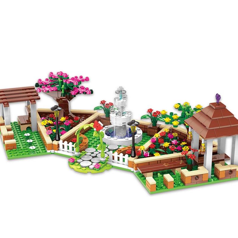 XINGBAO 12004 City Girl Series The Corner of the School Set Building Blocks Bricks Educational legoinglys Toys Gifts for Kids vay 12004