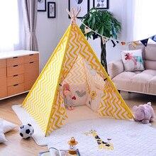 New bobo choses lemon yellow crianças kids play brinquedos brincar de casinha meninas princesa reino tendas para crianças brincam tenda tenda