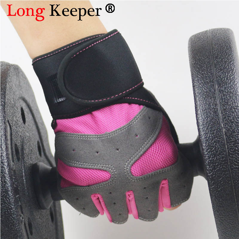Men Half Fingers Sport Gloves Women Outdoor Fitness Riding Gloves Anti-slip Elastic Dumbbells Weightlifting Gloves for Male G310