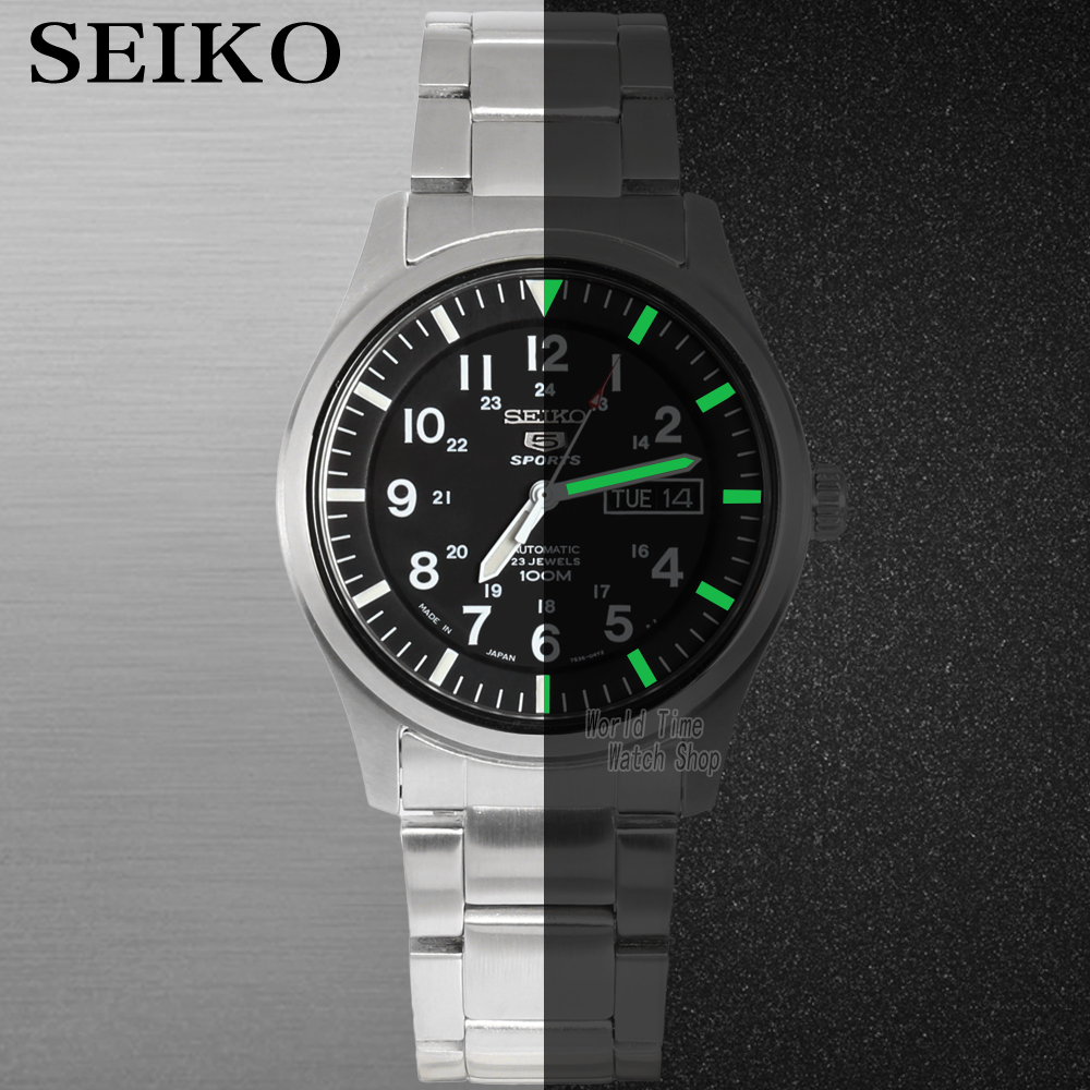 Image 3 - seiko watch men 5 automatic watch Luxury Brand Waterproof Sport Wrist Watch Date mens watches diving watch relogio masculin SNZG-in Sports Watches from Watches