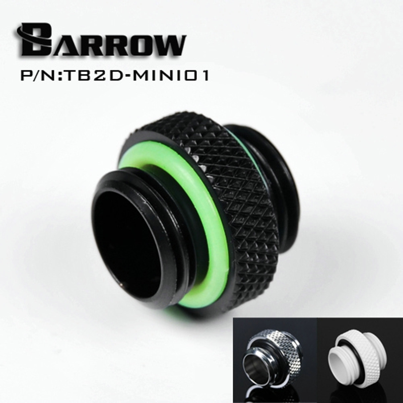 Barrow G1/4 '' Mini Dual External Thread Connection Double Male Adapter Thread Connector For Water Cooling System TB2D-MINI01