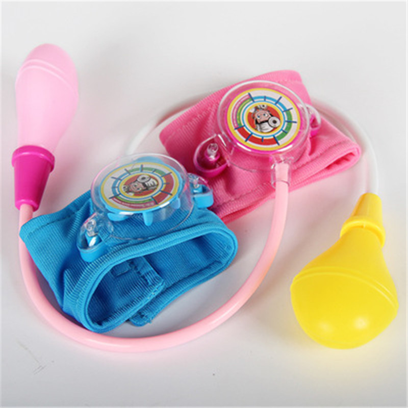 Doctor Toys Baby Blood Pressure Toy Cosplay Doctor Medicine Box Nurses Blood Pressure Toy Kids Pretend Play Games Gifts Fun image