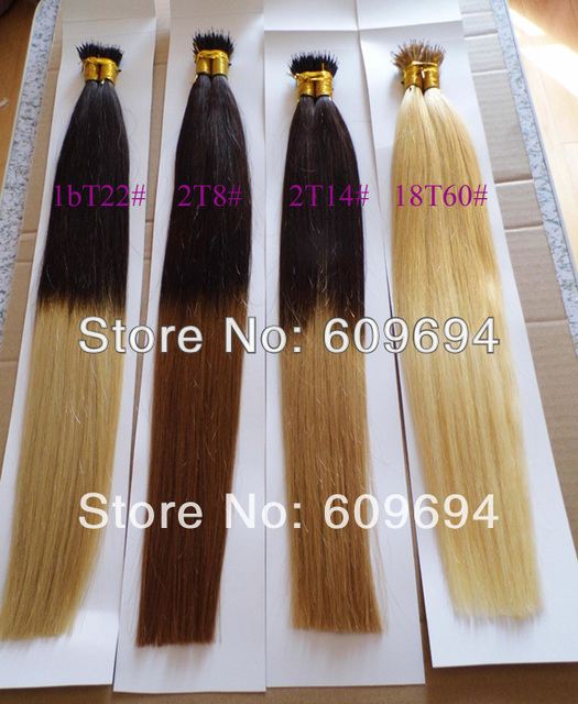 2t8 Stick I Tip Hair Ombre Two Tone Dip Dye Hair Extensions 18 20 1gs 100g Indian Remy Human On Aliexpress Alibaba Group