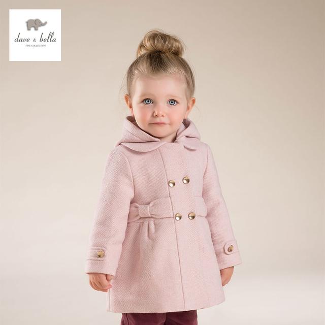 DB4062 DAVE BELLA chaqueta de abrigo de lana niñas niños moda niños ropa de abrigo de lana