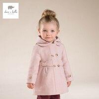 DB4062 DAVE BELLA girls wool coat children fashion jacket kids woolen outerwear