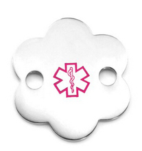 Wholesale Stainless Steel Flower Pink Medical ID Tag Low Price Flower Pink Medical ID pendant FH890317 medical monitor stand stainless steel medical trolley