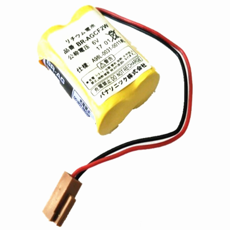 20 sztuk/partia BR-AGCF2W BR AGCF2W baterie litowe 6V PLC z czarną wtyczką Fanuc
