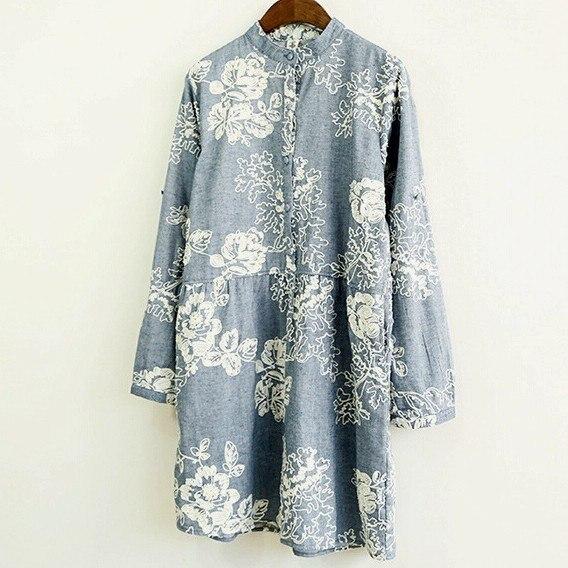 3D вышивка стенд с длинным рукавом старинные платье