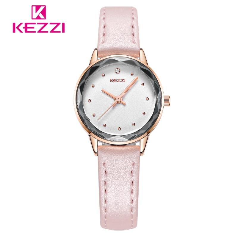 KEZZI montre femme Mały zegarek Moda Diamentowy zegar kobiet zegarki - Zegarki damskie - Zdjęcie 2