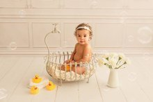 Newborn photography props baby  creative bath bebe bathtub accessories iron bed