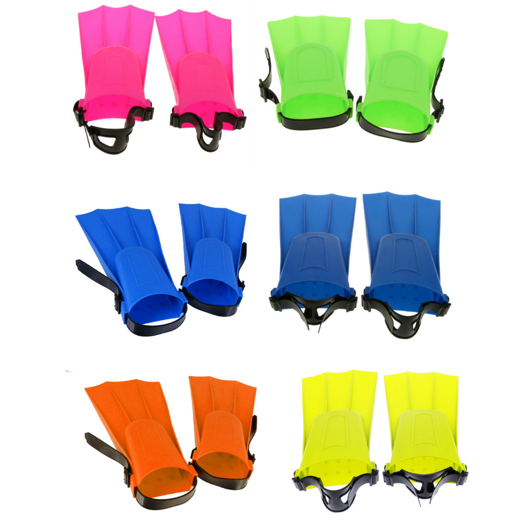 Diving Flippers Diving Fins Adjustable Swim Fins Training Long Flippers Scuba Diving Swimming Snorkeling With Adjustable Strap