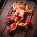 2016 Nacional Hecho A Mano Caballo de Color Beads Tassel Llavero Joyas De Tela de Dibujos Animados Bolsa de Perlas Colgantes Borla Llavero Regalo PW2629