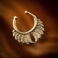 Oferta Specjalna Pępka Piercing Body Jewelry 6 Sztuk 2015 Nowy fałszywe Nose Ring Galwanicznie Fałszywe/faux/clip On Przegroda Dla Nie Przebił nosy