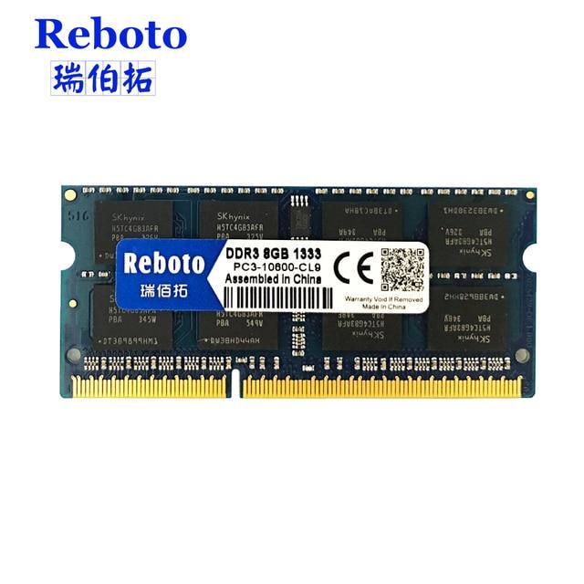 Reboto DDR3 2GB 4GB 8GB 1066mhz 1333Mhz 1600mhz Laptop RAM Memory