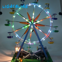 Lightaling DIY LED Light Set Toy For Lepin 15012 and Brand 10247 City Street Ferris Wheel Model Building Kits Model Blocks Toy lepin 17006 928pcs kirk s house rare limited edition model building kits set blocks bricks lepins toys clone 4000007