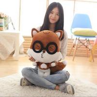 1 sztuk 40 cm Śliczne Brązowy Wiewiórki Zwierząt Pluszowa Zabawka z Okularami Miękkie Lalki Zabawki Dla Dzieci Prezenty dla Dzieci