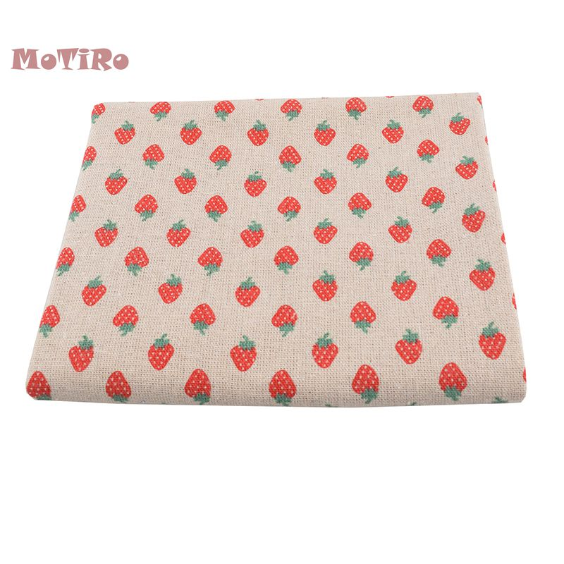 Initiative Motiro,printed Cotton Linen Fabric,100*150cm,strawberry Series Cloth Of Quilting/sewing/sofa/table/curtain/bag/cushion Material High Quality Materials Apparel Sewing & Fabric